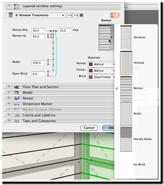 Blinds Interface page
